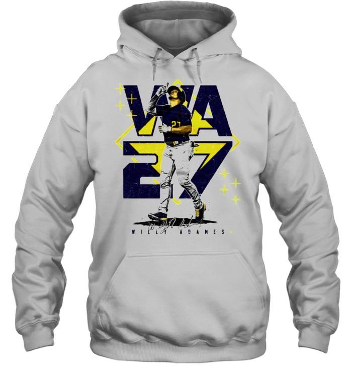 Milwaukee Baseball Willy Adames #27 player square shirt Unisex Hoodie