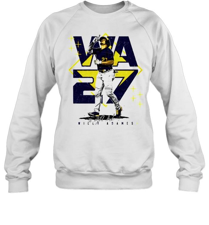 Milwaukee Baseball Willy Adames #27 player square shirt Unisex Sweatshirt