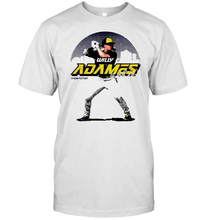 Milwaukee Baseball Willy Adames Skyline signature shirt Classic Men's T-shirt