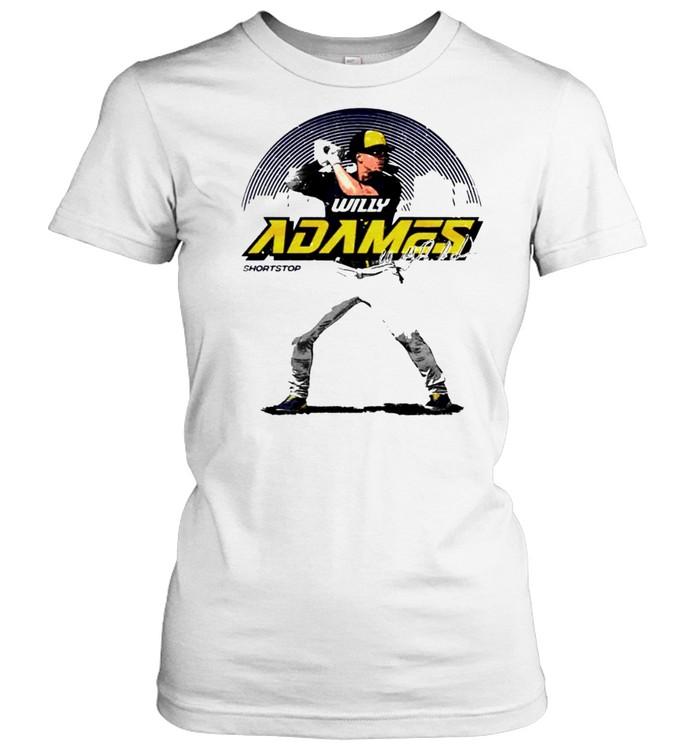 Milwaukee Baseball Willy Adames Skyline signature shirt Classic Women's T-shirt