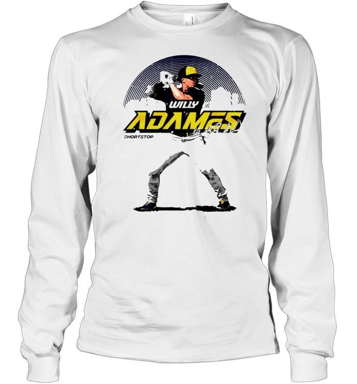 Milwaukee Baseball Willy Adames Skyline signature shirt Long Sleeved T-shirt