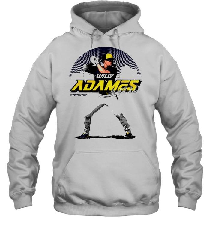 Milwaukee Baseball Willy Adames Skyline signature shirt Unisex Hoodie