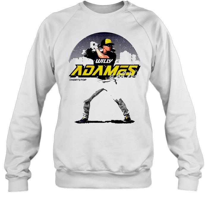 Milwaukee Baseball Willy Adames Skyline signature shirt Unisex Sweatshirt