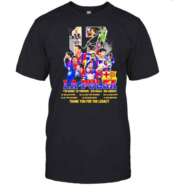 17 La Pulga 228 Games 35 Trophes 672 Goals 305 Assists Thank You For The Memories shirt Classic Men's T-shirt