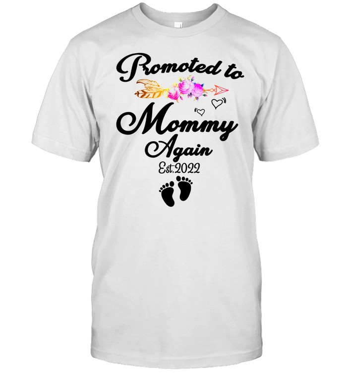 Promoted To Mommy Again 2022, New Mom Pregnancy shirt Classic Men's T-shirt