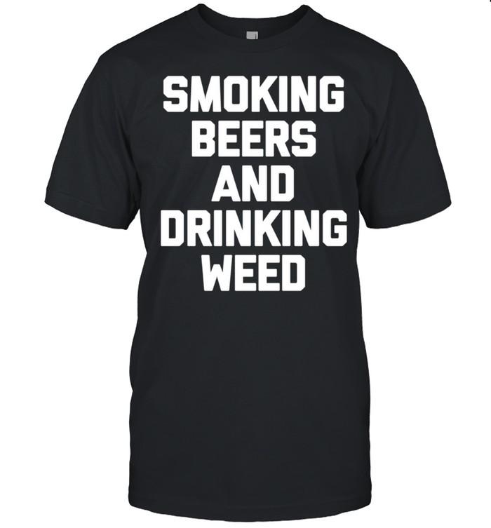 Rauchendes Bier & Trinken Unkraut Marihuana 420 Stoner shirt Classic Men's T-shirt