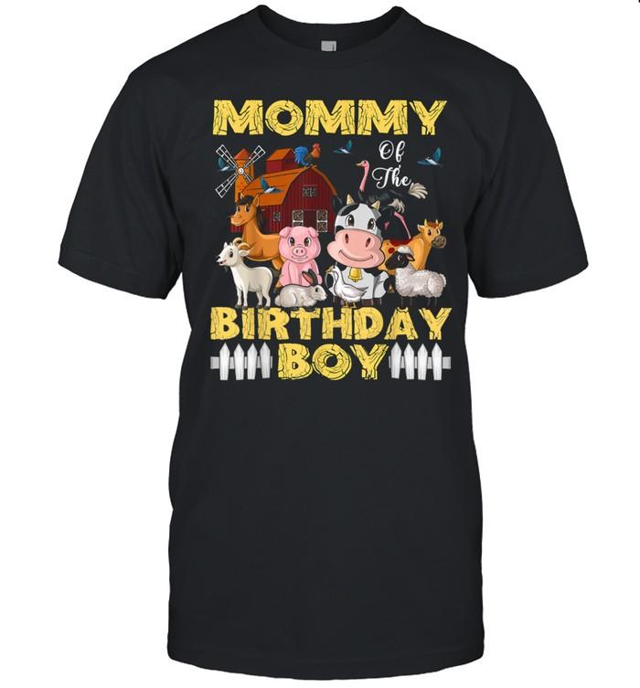 Mommy of The Birthday Boy Barnyard Farm Animals Party shirt Classic Men's T-shirt