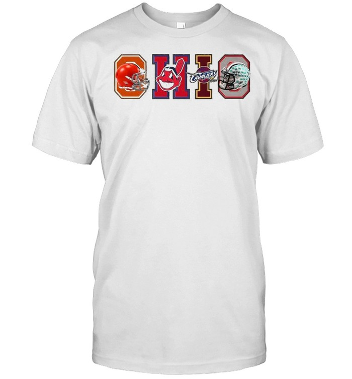 Ohio Cleveland Browns Cleveland Indians Cleveland Cavaliers  Classic Men's T-shirt