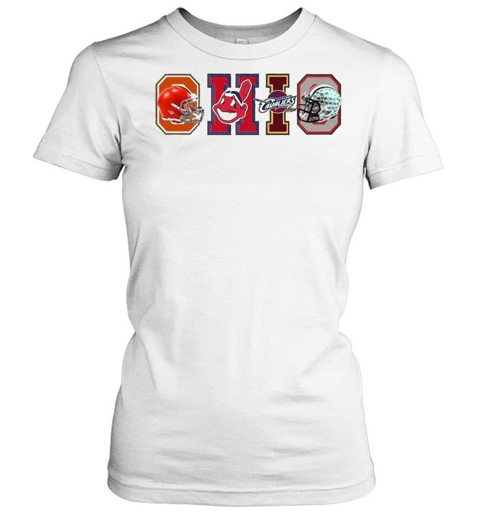 Ohio Cleveland Browns Cleveland Indians Cleveland Cavaliers  Classic Women's T-shirt