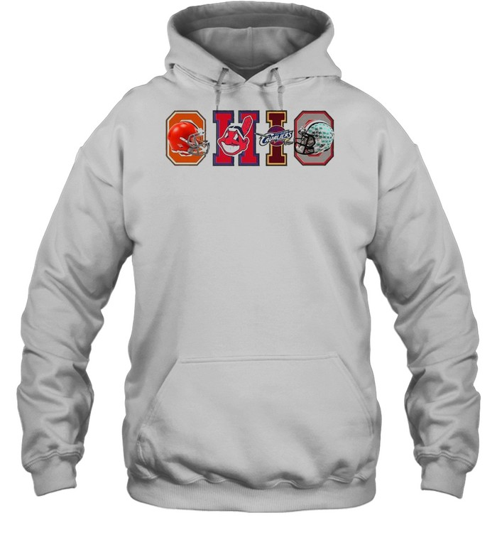 Ohio Cleveland Browns Cleveland Indians Cleveland Cavaliers  Unisex Hoodie