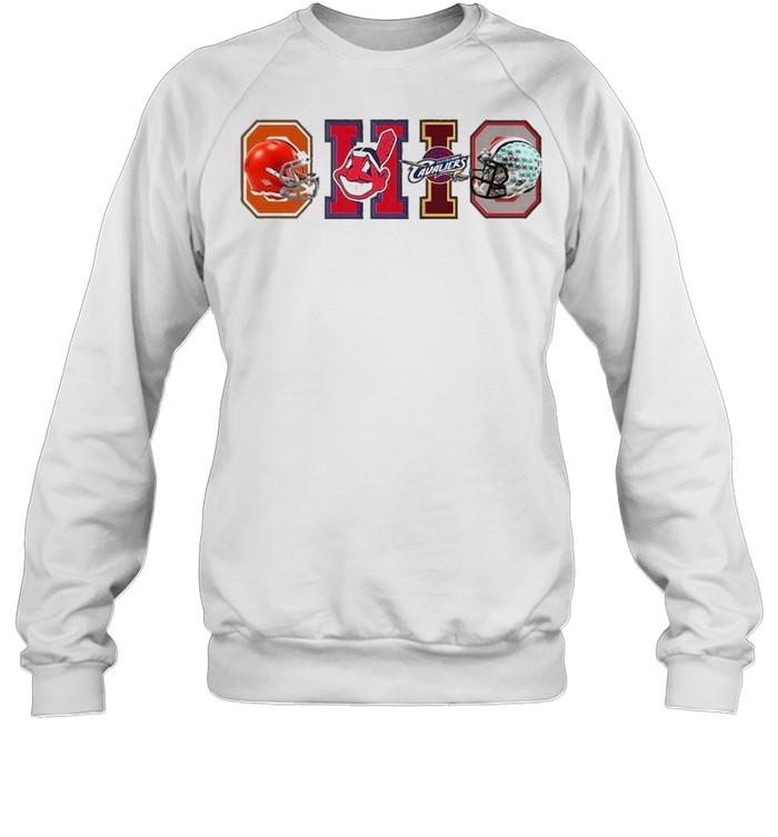 Ohio Cleveland Browns Cleveland Indians Cleveland Cavaliers  Unisex Sweatshirt