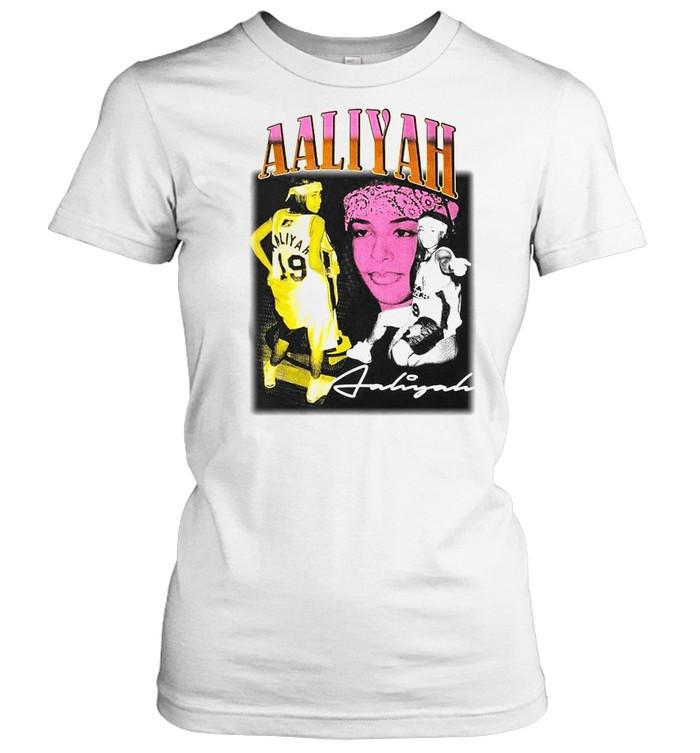 Vintage Aaliyah Basketball  Classic Women's T-shirt