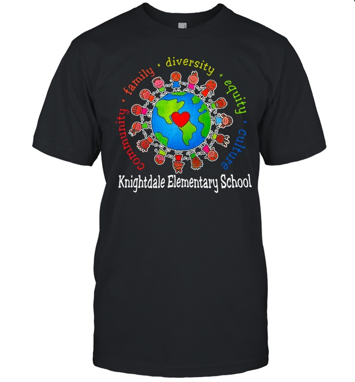 Community Family Diversity Equity Culture Knightdale Elementary School  Classic Men's T-shirt