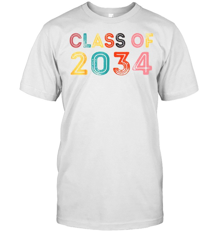 First Day Of School Graduation Class Of 2034 Grow With Me shirt Classic Men's T-shirt