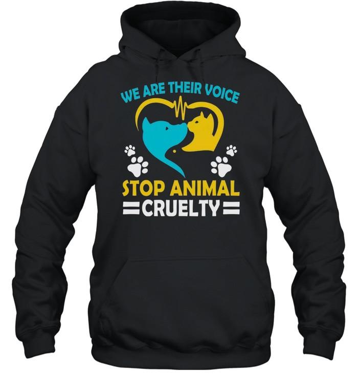 We are their voice stop animals cruelty shirt Unisex Hoodie