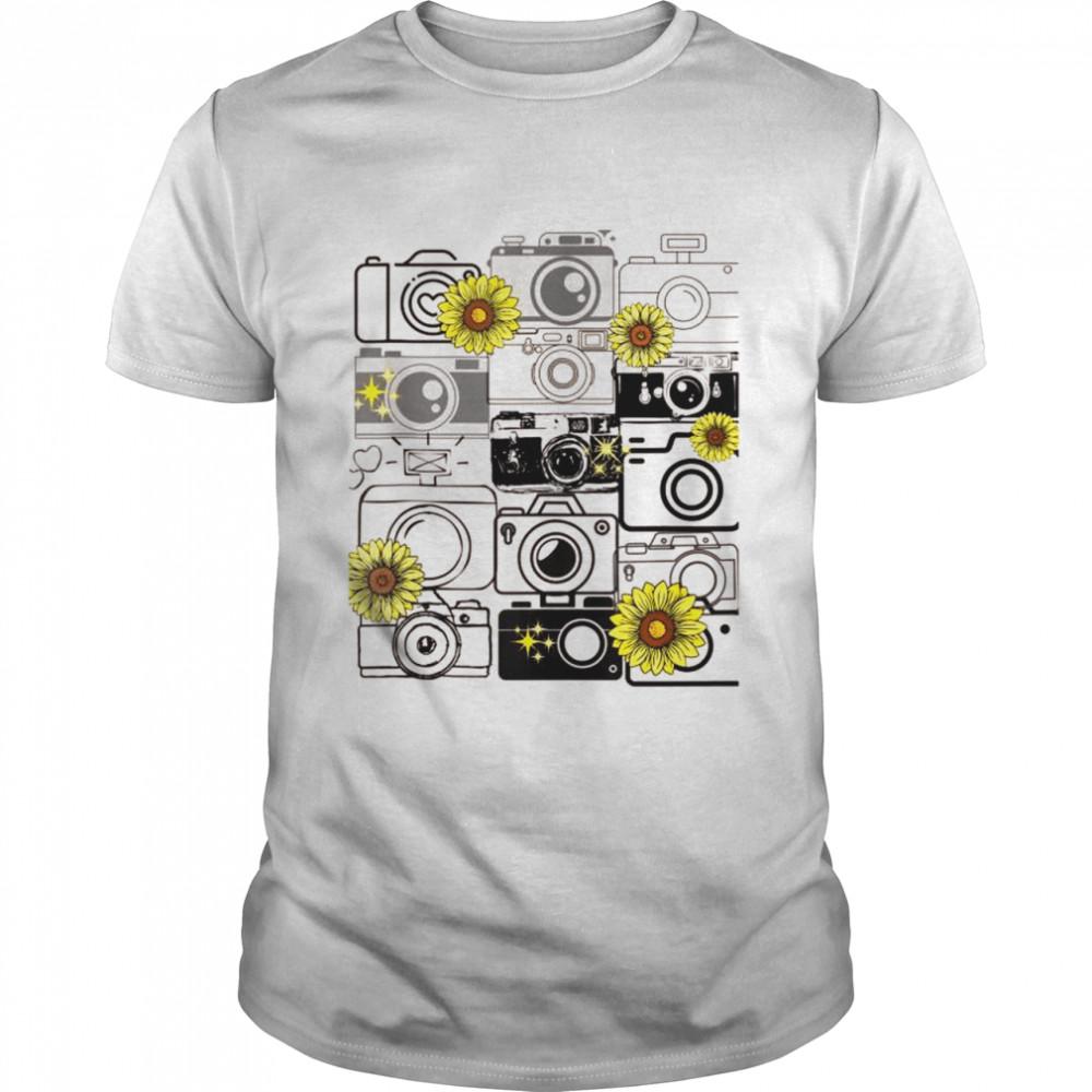 Photography Cameras Sunflower shirt Classic Men's T-shirt