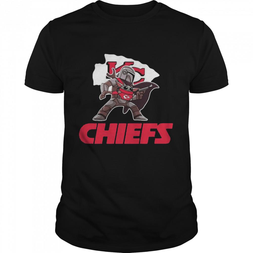 The Mandalorian And Baby Yoda Kansas City Chiefs  Classic Men's T-shirt