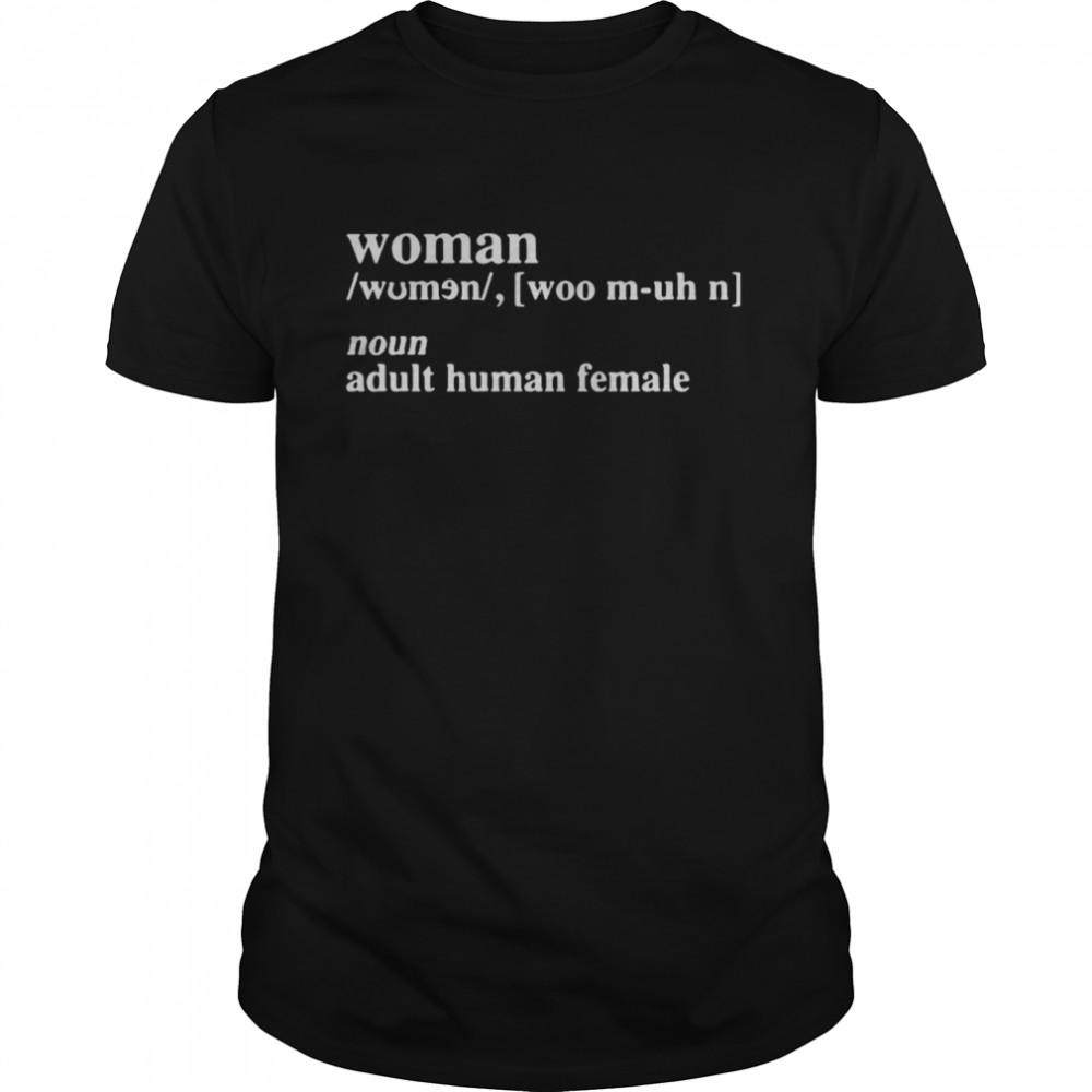 Woman noun adult human female shirt Classic Men's T-shirt