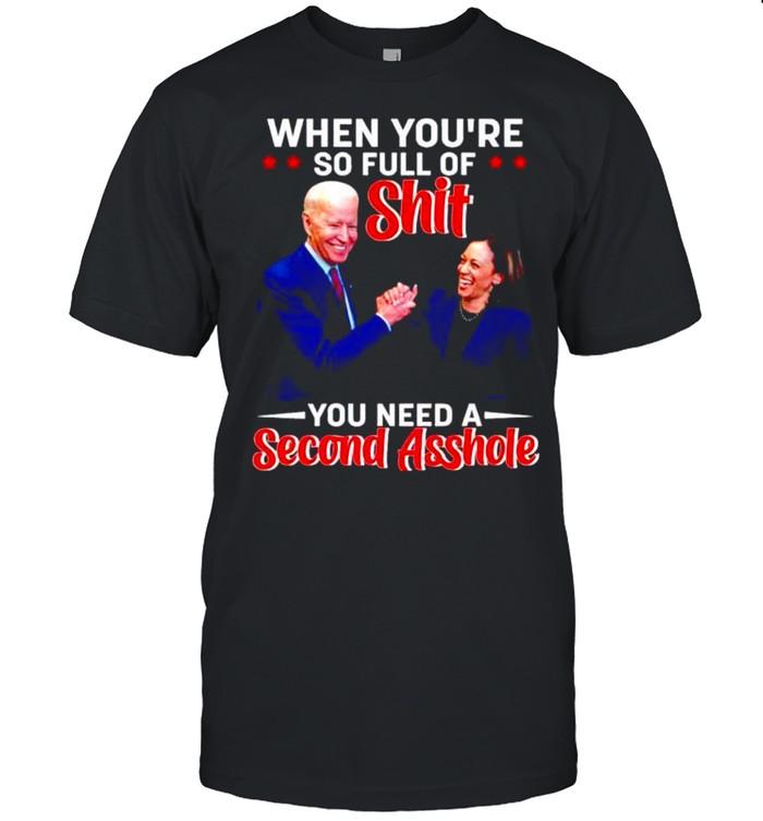 Biden Harris when you're so full of shit you need a second asshole shirt Classic Men's T-shirt
