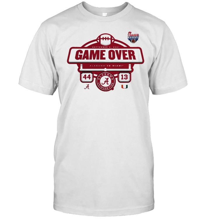 The Alabama Crimson Tide vs Miami Hurricanes Game Over 2021 Football Score T- Classic Men's T-shirt