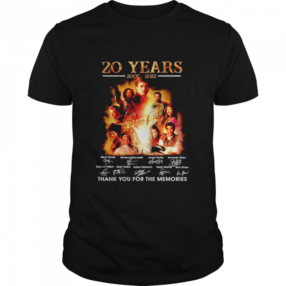 20 years 2002 2022 Firefly thank you for the memories shirt Classic Men's T-shirt