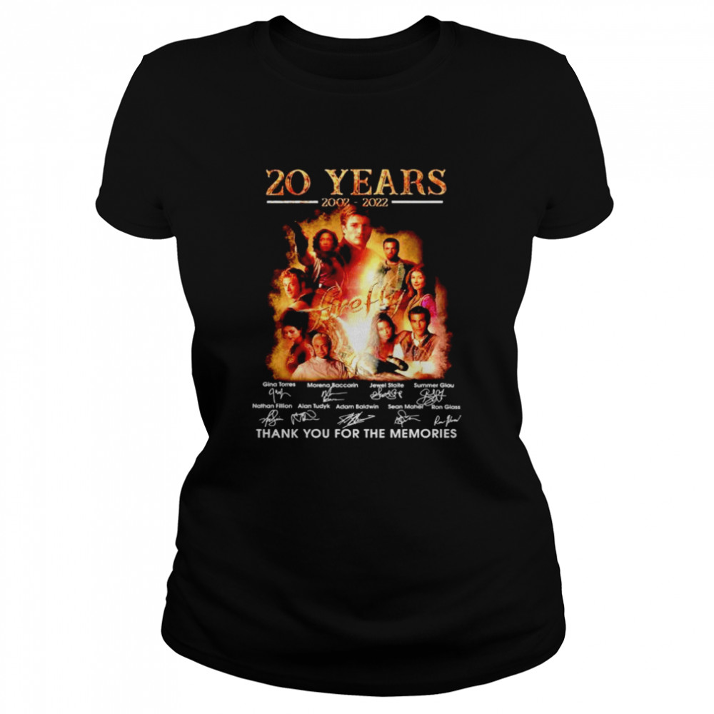20 years 2002 2022 Firefly thank you for the memories shirt Classic Women's T-shirt
