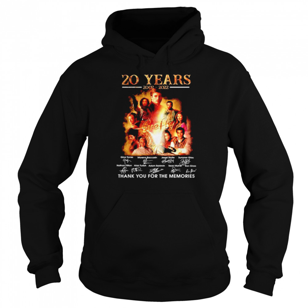 20 years 2002 2022 Firefly thank you for the memories shirt Unisex Hoodie