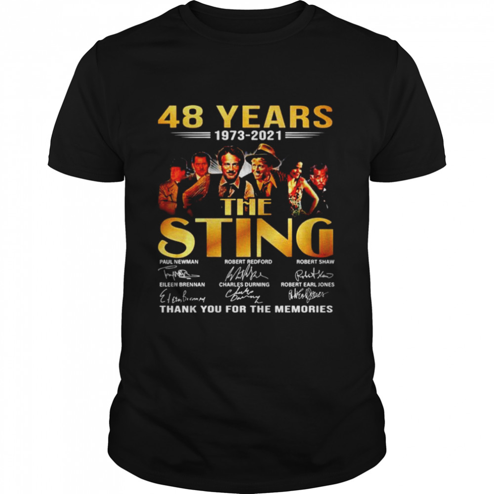 48 years 1973 2021 The Sting thank you for the memories shirt Classic Men's T-shirt