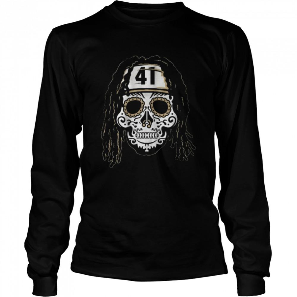 Alvin Kamara Sugar Skull  Long Sleeved T-shirt