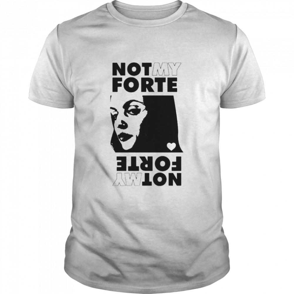 Not My Forte Rock Grey shirt Classic Men's T-shirt