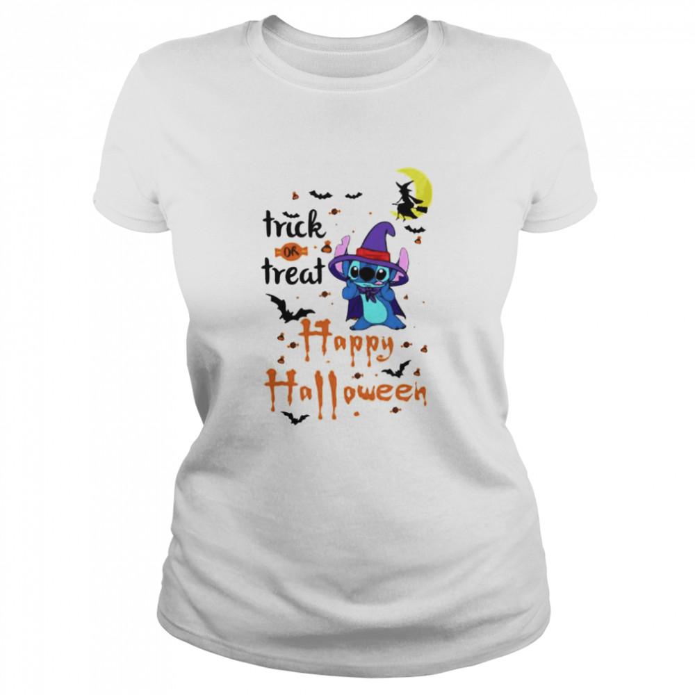Stitch trick or treat happy Halloween shirt Classic Women's T-shirt