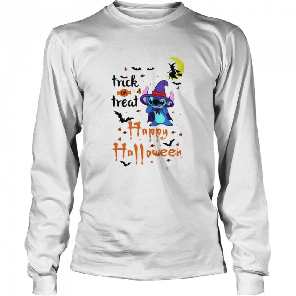 Stitch trick or treat happy Halloween shirt Long Sleeved T-shirt