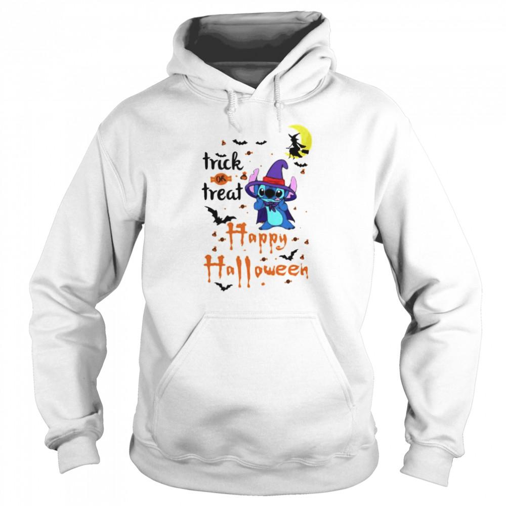 Stitch trick or treat happy Halloween shirt Unisex Hoodie