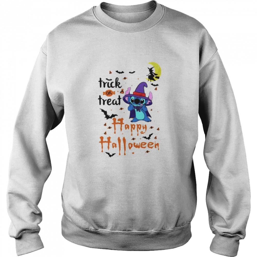 Stitch trick or treat happy Halloween shirt Unisex Sweatshirt
