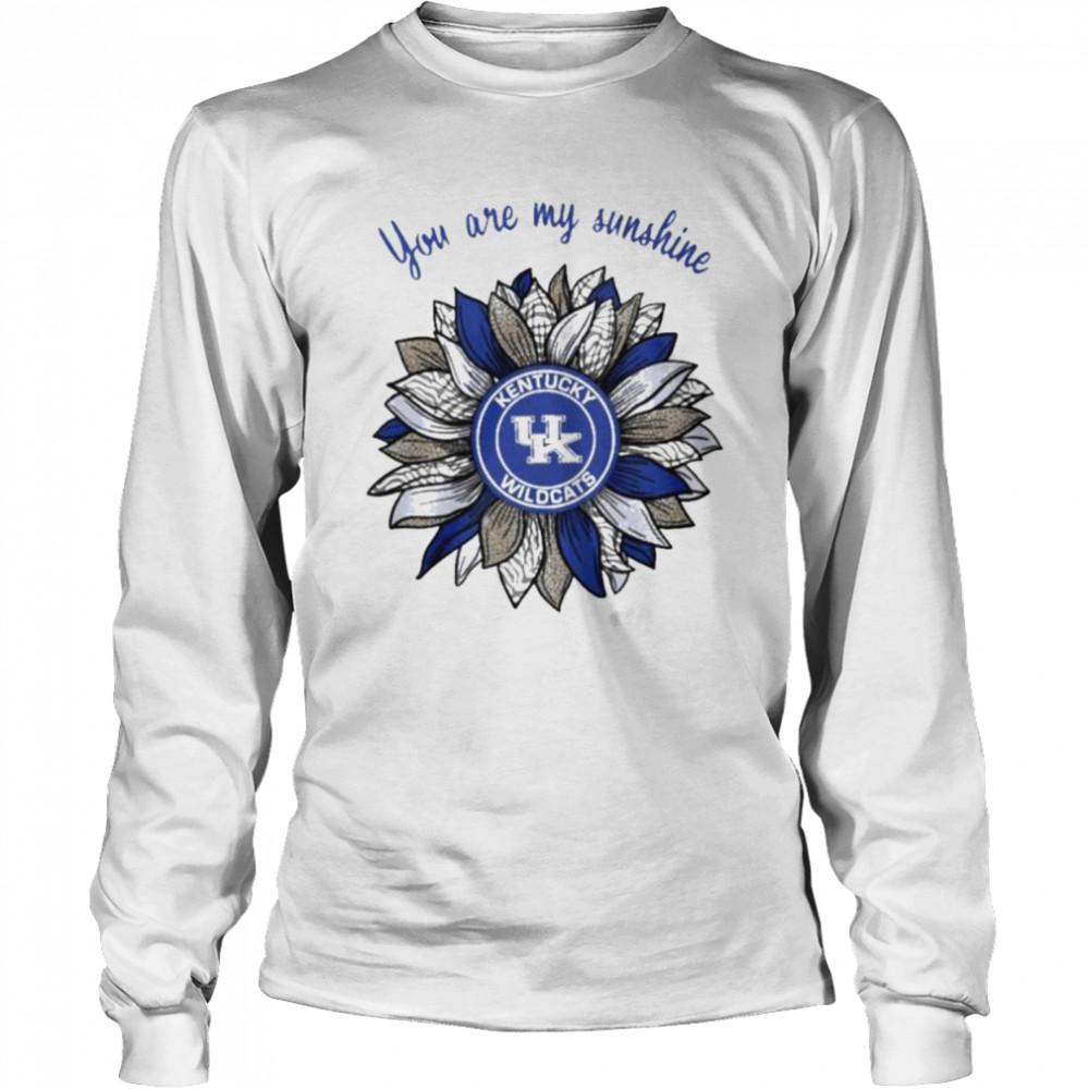 Sunflower you are my sunshine Kentucky Wildcats shirt Long Sleeved T-shirt