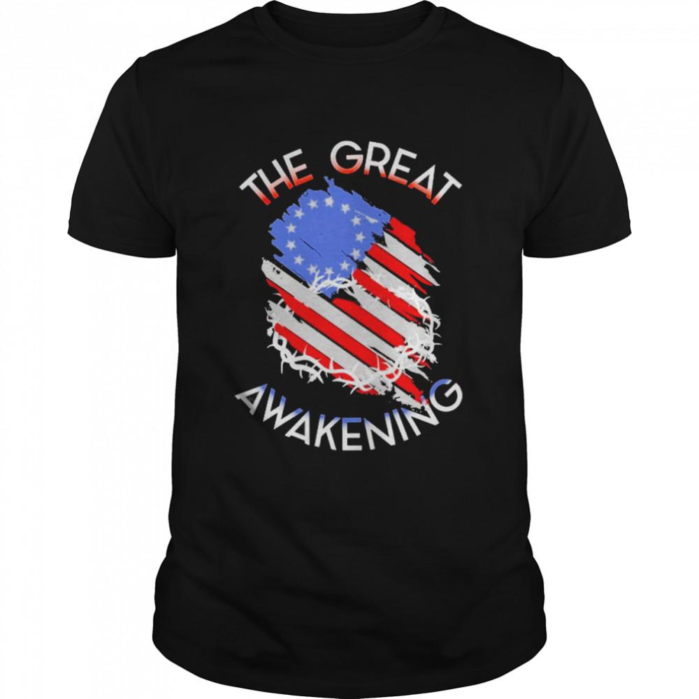 The Great Awakening American Flag  Classic Men's T-shirt