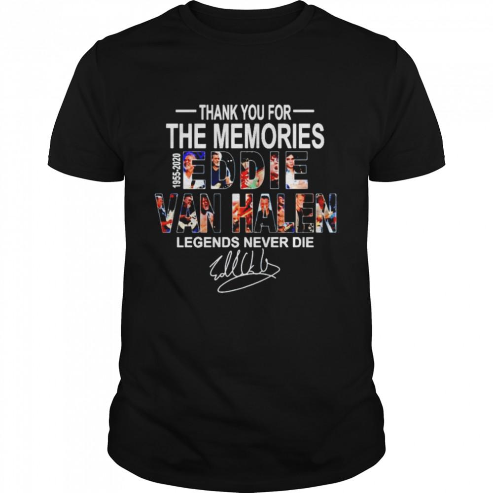 Eddie Van Halen thank you for the memories shirt Classic Men's T-shirt