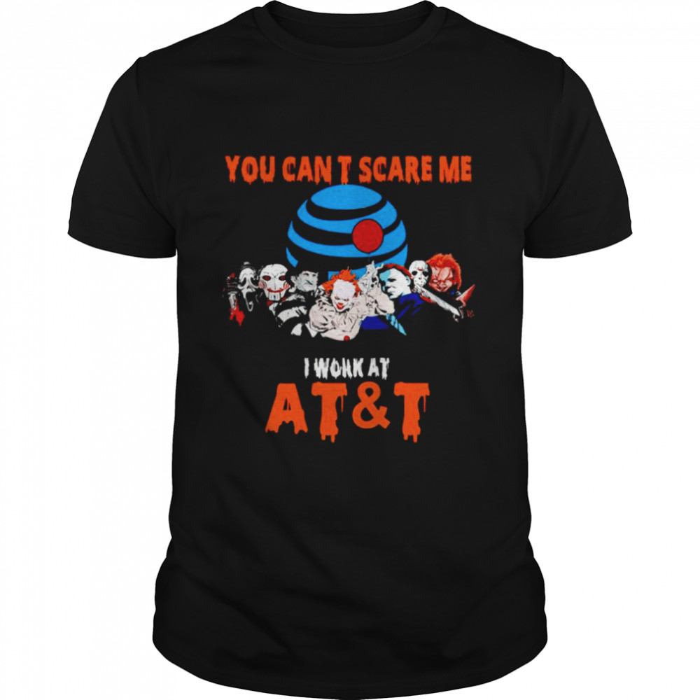 Halloween Horror movies characters you can't scare me I work at AT and T shirt Classic Men's T-shirt