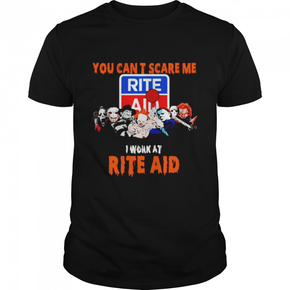 Halloween Horror movies characters you can't scare me I work at Rite Aid shirt Classic Men's T-shirt