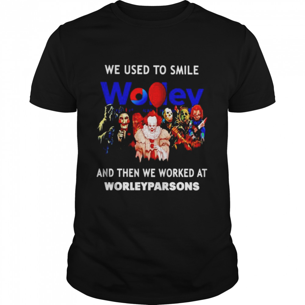 Horror Halloween we used to smile and then we worked at Worleyparsons shirt Classic Men's T-shirt