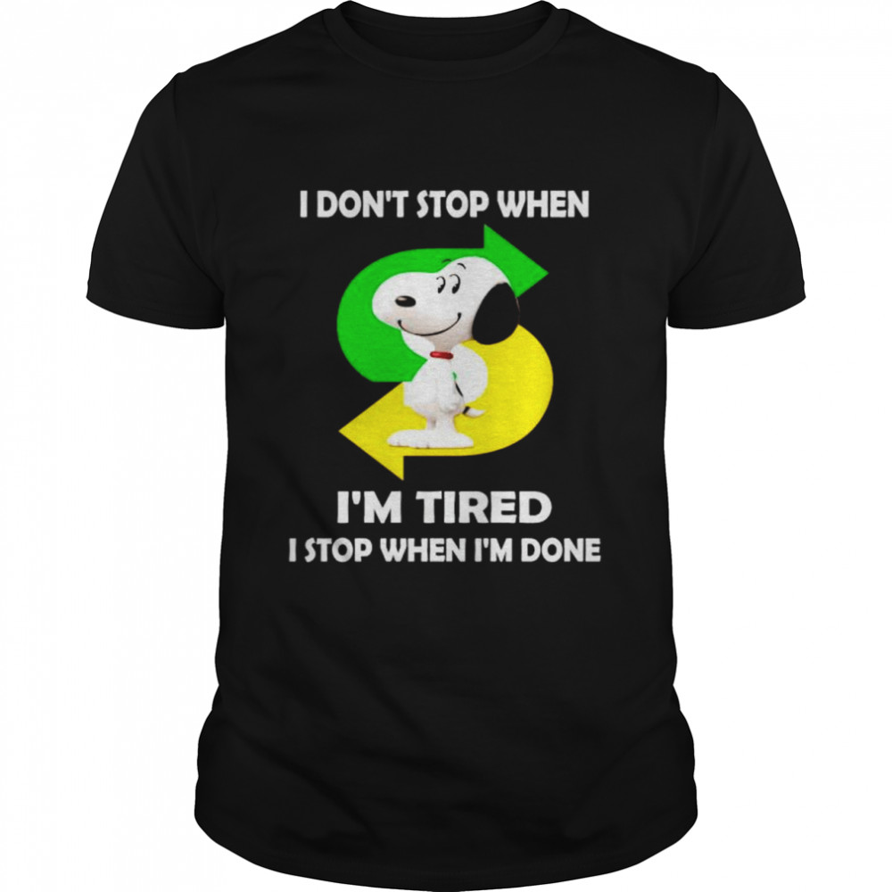 Snoopy Subway I don't stop when I'm tired shirt Classic Men's T-shirt