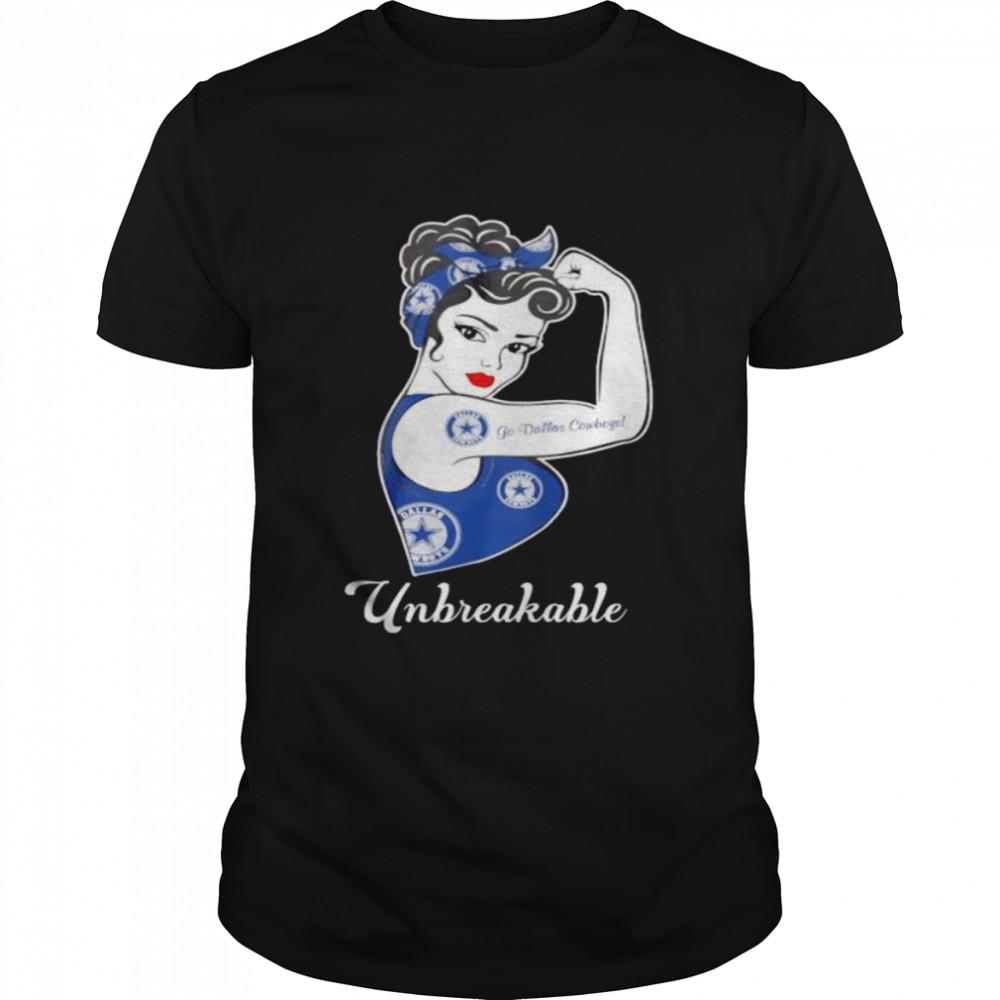 Strong girl unbreakable go Dallas Cowboys shirt Classic Men's T-shirt