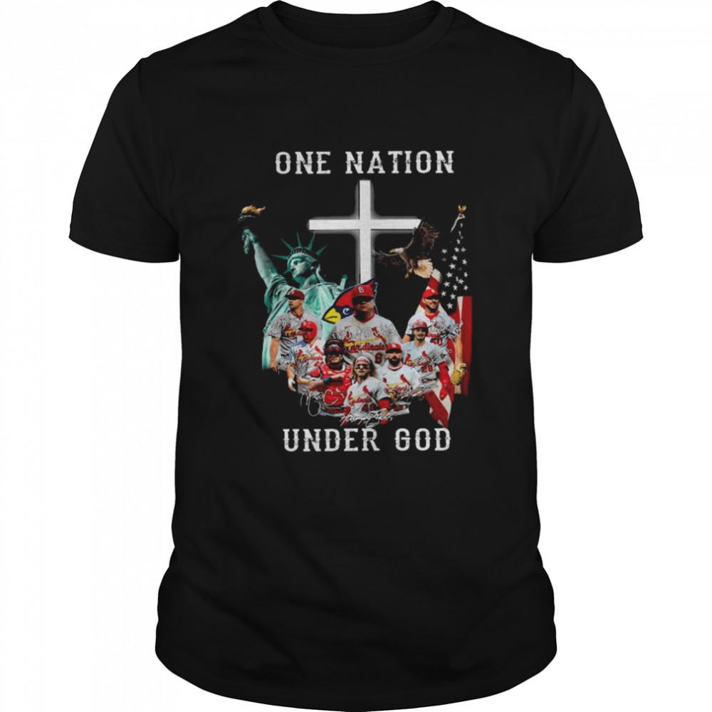Original st. Louis Cardinals One Nation Under God American flag 2021 tee  Classic Men's T-shirt