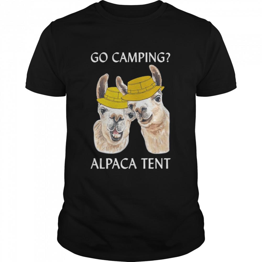 Go Camping Alpaca Tent T-shirt Classic Men's T-shirt