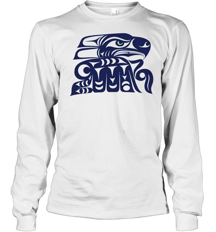 Indian Tribe Coast Salish Inspired Seahawks shirt Long Sleeved T-shirt